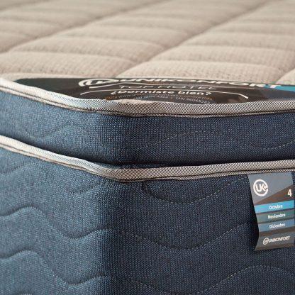 colchón top hotel pocket encapsulado detalle costura