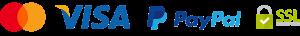 Métodos de pago aceptados y seguro mediante SSL